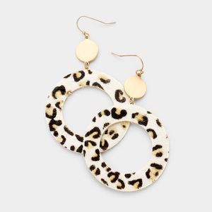 Leopard Print Design Earrings